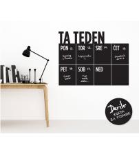Tedenski koledar Piši – briši