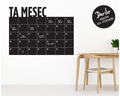 Mesečni koledar Piši – briši